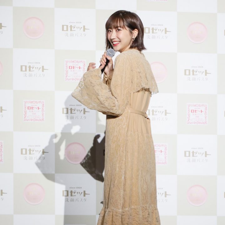 『ロゼット洗顔パスタ』のイベントに登壇した武田玲奈