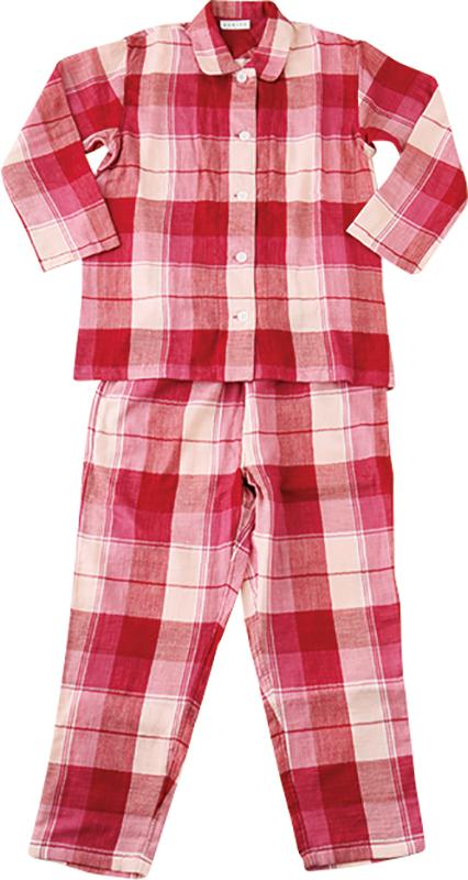 赤いチェックのパジャマ