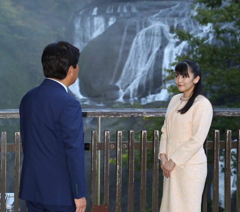 2019年10月7日に茨城の袋田の滝を訪問された眞子さま