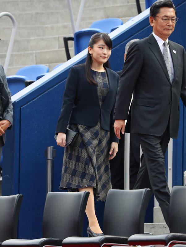 テニスの東京五輪・パラリンピックのテスト大会を兼ねた三菱全日本選手権の最終日が11月3日、東京・有明コロシアムで行われ、観戦される眞子さま