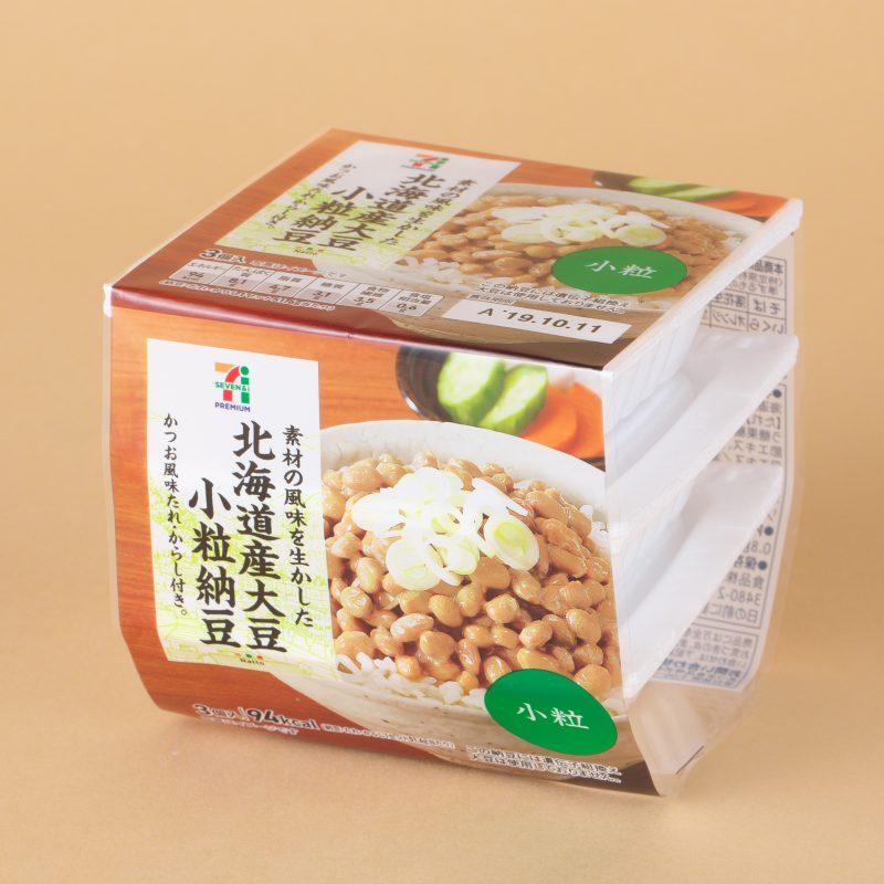 セブンイレブンの北海道産大豆小粒納豆 3パック