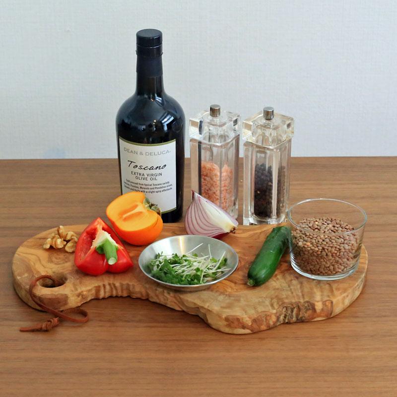 市橋有里がレシピ考案した「レンズ豆と柿のサラダ」材料