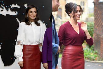 メーガン妃とレティシア王妃、スカートがかぶっちゃった!着こなしを徹底比較