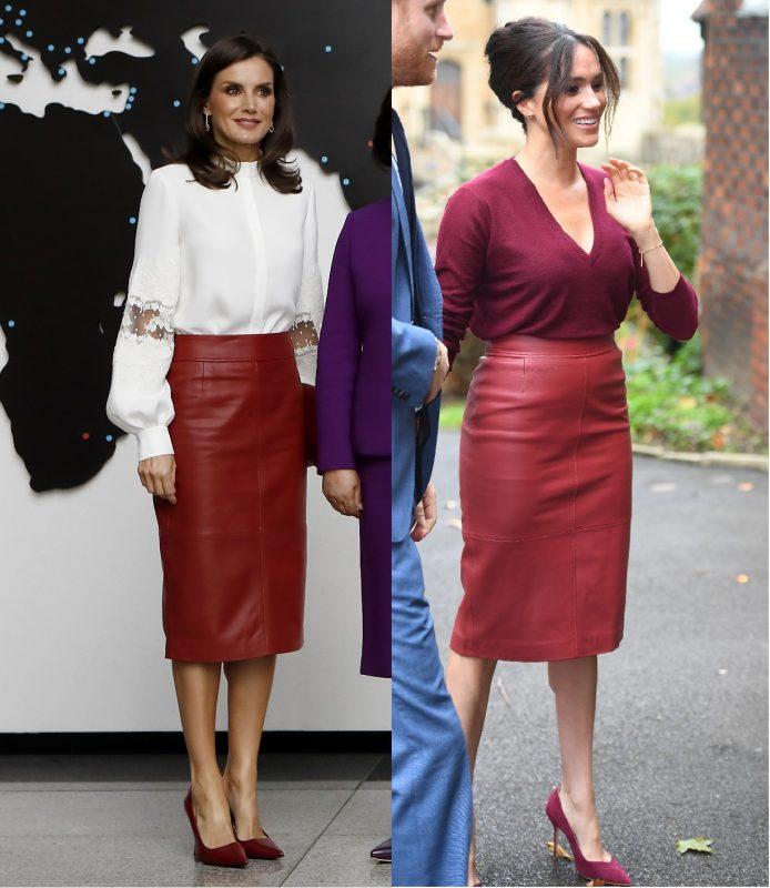 同じスカートをはいたメーガン妃とレティシア王妃