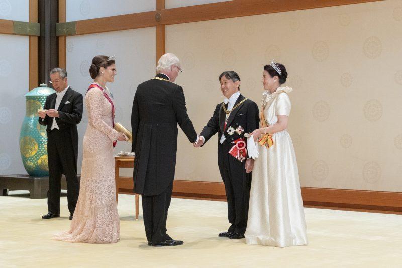 饗宴の儀1日目の新天皇と皇后雅子さま
