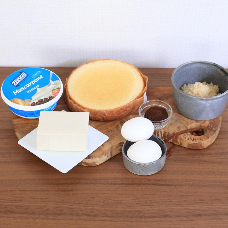「お豆腐ティラミス」材料