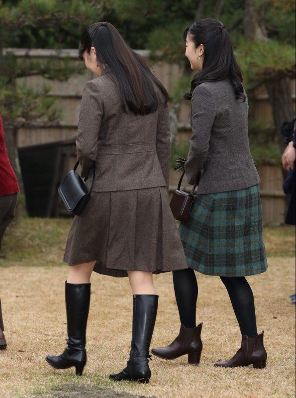 同じヘアスタイルの眞子さまと佳子さま