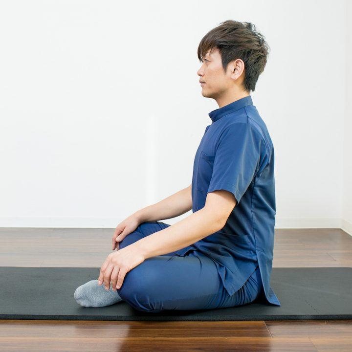 腹式呼吸のやり方1