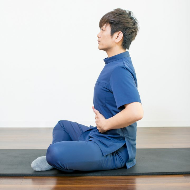 腹式呼吸のやり方3