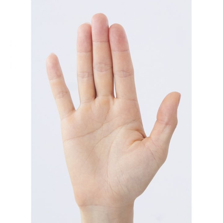 右手の手のひら