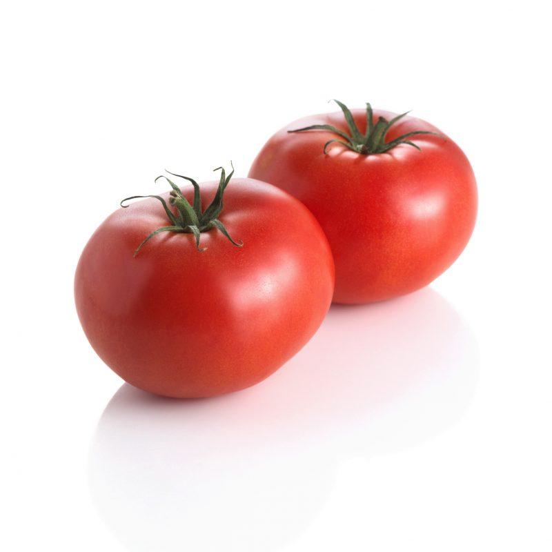 トマトが2つならんでいる