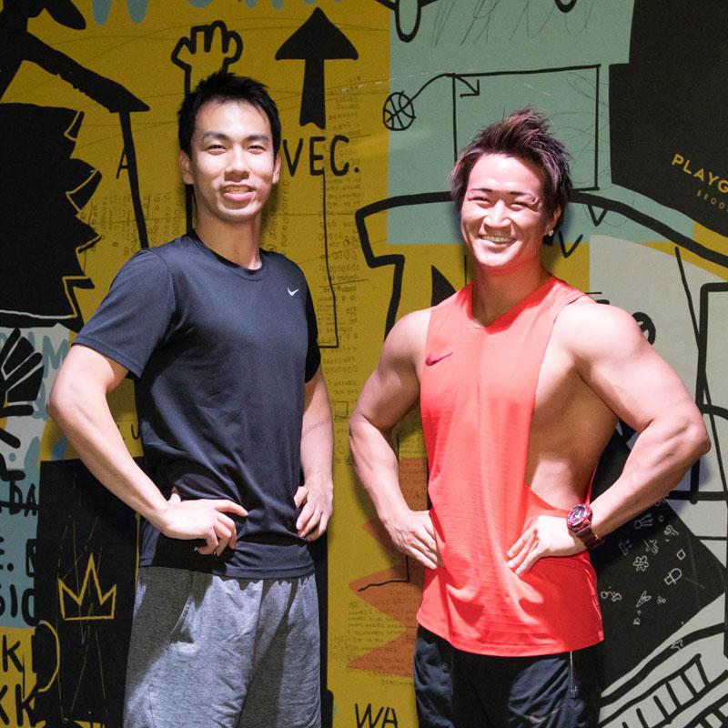 PLAYGROUNDインストラクターのKENICHIさんとDJ YOSHIさん