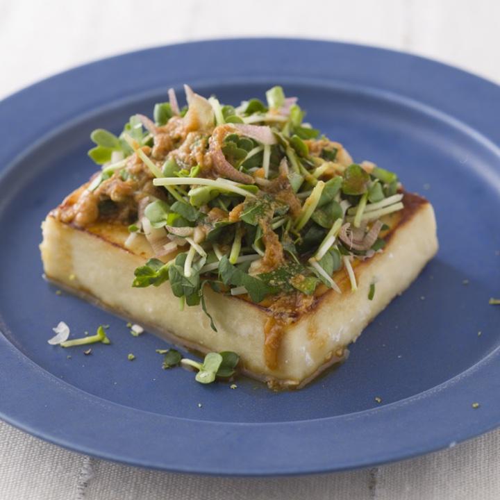 塩麹漬け高野豆腐ステーキ