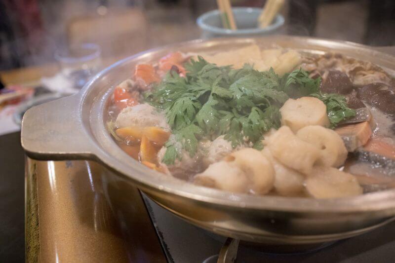 海鮮たっぷりのちゃんこ鍋