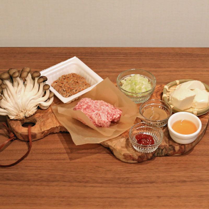 市橋有里がレシピ考案した「納豆タンタンスープ」材料
