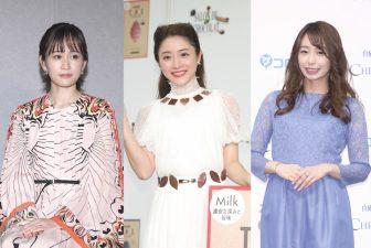 石原さとみはチョコ付きドレスで笑顔!美女4人のロングドレス集【ファッションチェック】
