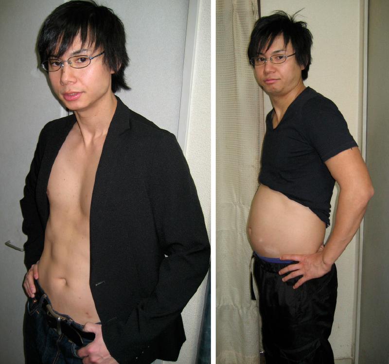 69.6kg→61.4kgへヤセた時の石本哲郎さん比較画像