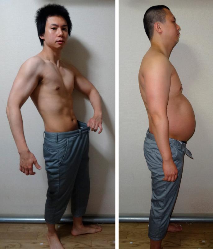 90kg→65kg 石本哲郎さんビフォアアフター画像