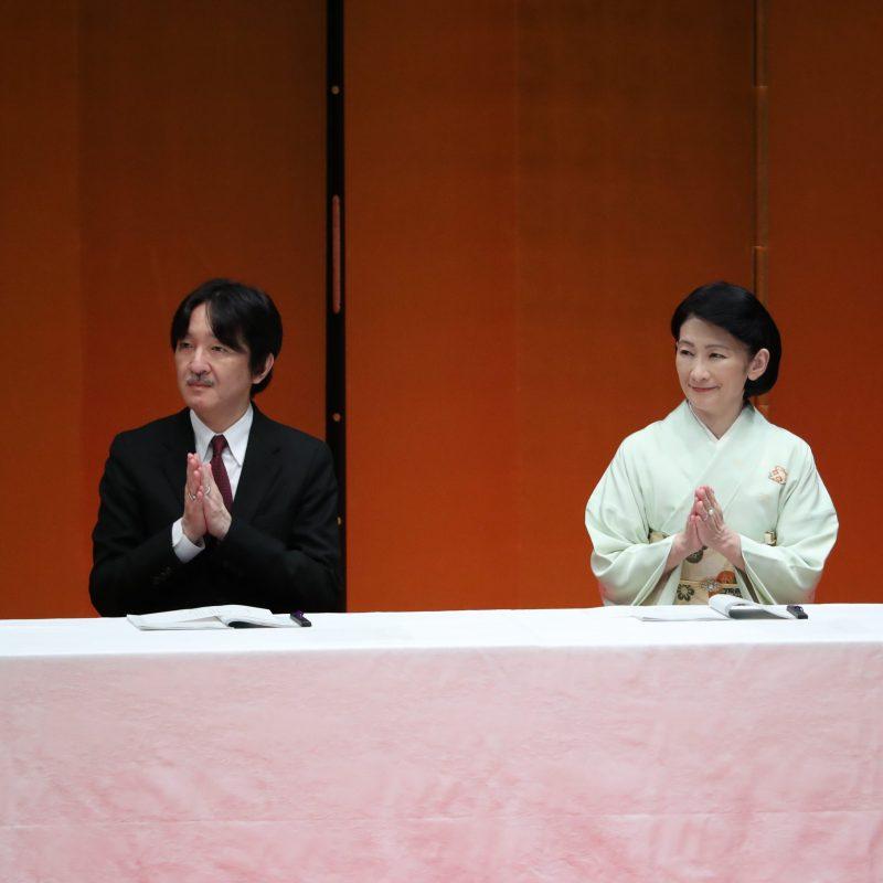 第60回交通安全国民運動中央大会にご臨席される秋篠宮ご夫妻