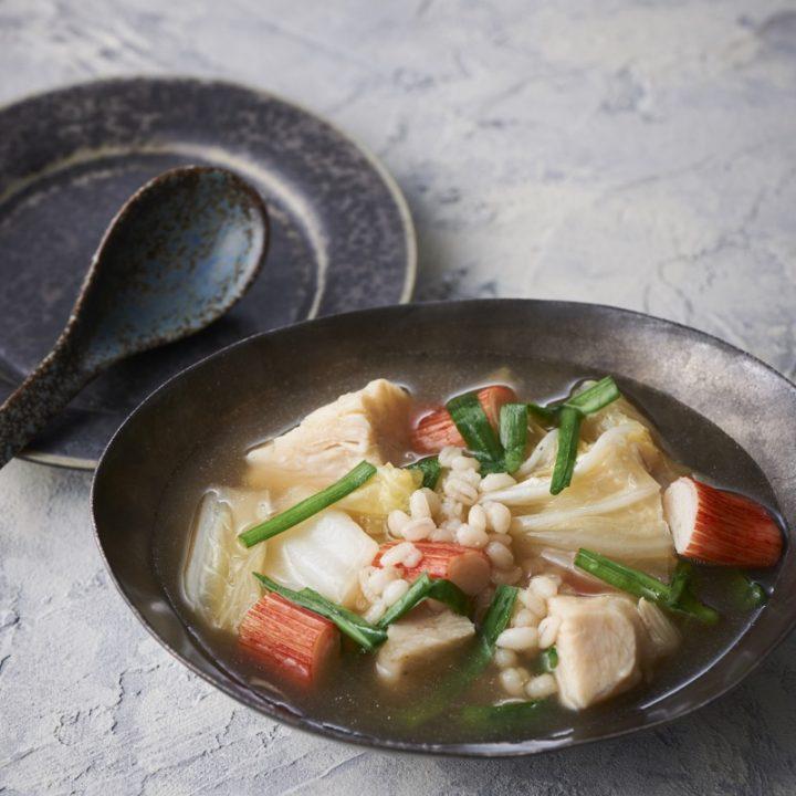 「サラダチキンと白菜の中華スープ」