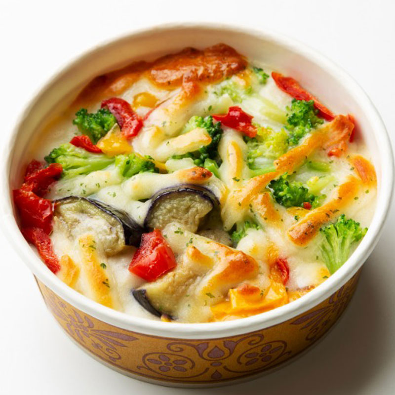 鶏むね肉と彩り野菜のグラタン