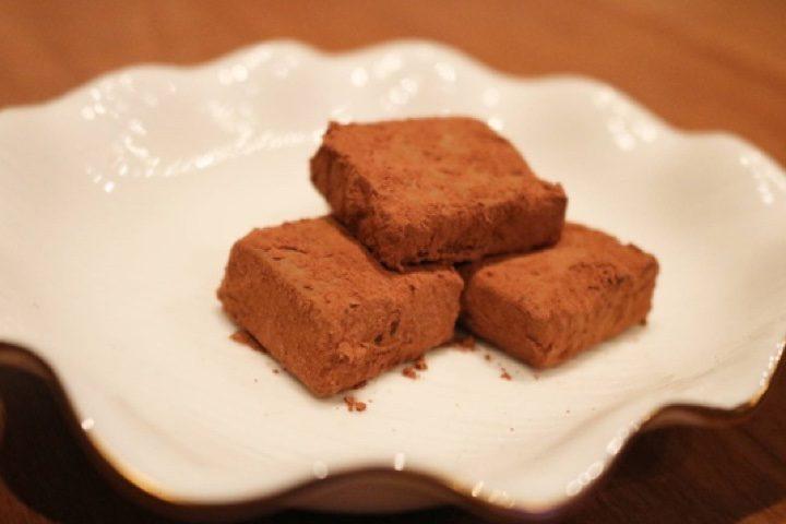「豆腐deバレンタイン定番の生チョコ」