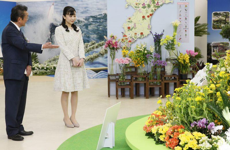 第69回関東東海花の展覧会に出席された佳子さま