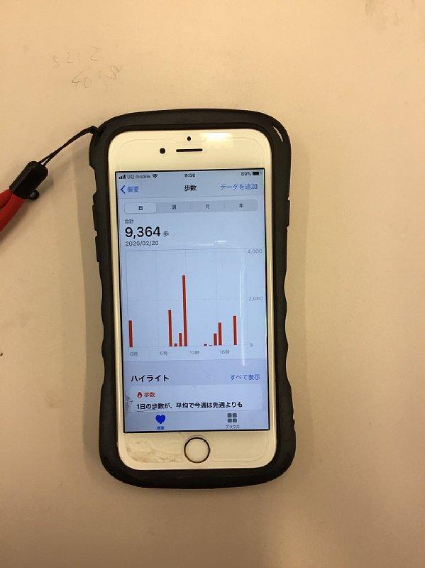 スマホの歩数計アプリ