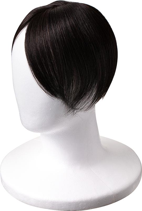 人毛に近い細さの化繊を使ったウイッグの写真