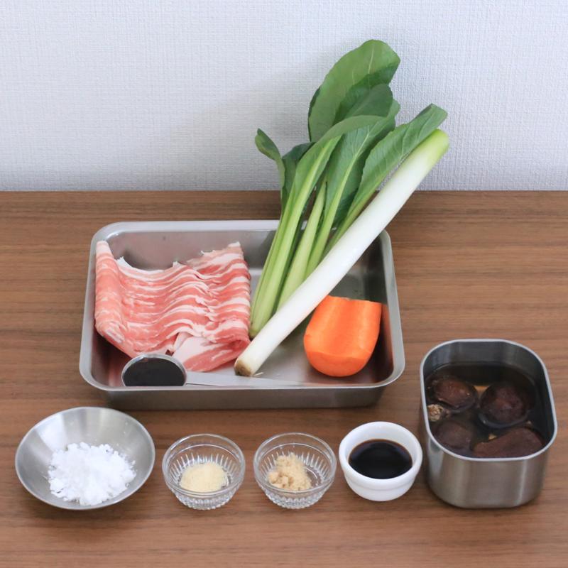 「小松菜あんかけ丼」の材料