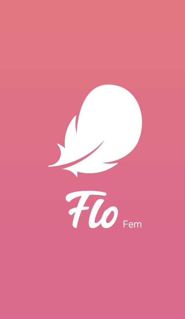 アプリ「Flo」のTOP画面
