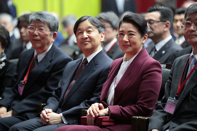『水と文化』国際シンポジウムの際の天皇皇后両陛下