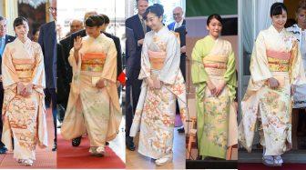 海外でも魅了!眞子さま佳子さま姉妹の愛らしい和服コレクション