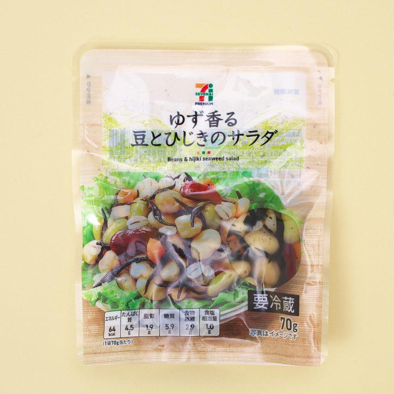 セブンイレブンのゆず香る豆とひじきのサラダ 70g