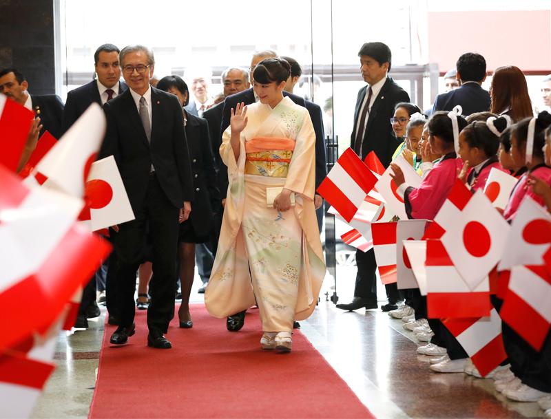 日本人の移住120周年を祝う式典に出席された眞子さま