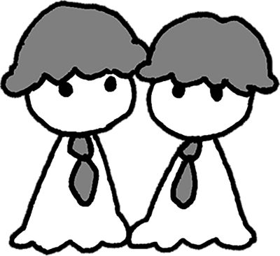 双子イラスト