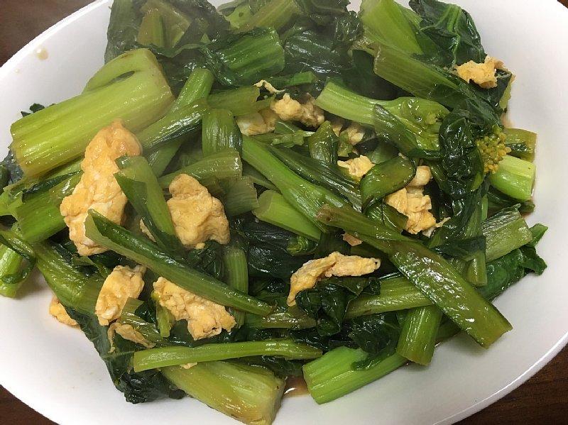 かき菜と卵の炒めもの