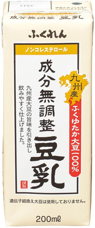 九州産ふくゆたか大豆成分無調整豆乳