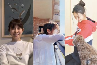 """石田ゆり子は白ロンT、森星は紫ビキニ…美女7人の""""おうちファッション""""集"""