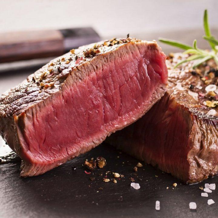ステーキ肉の断面