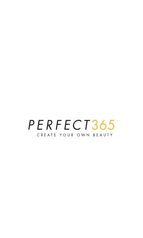 アプリ「PERFECT365」のトップ画面