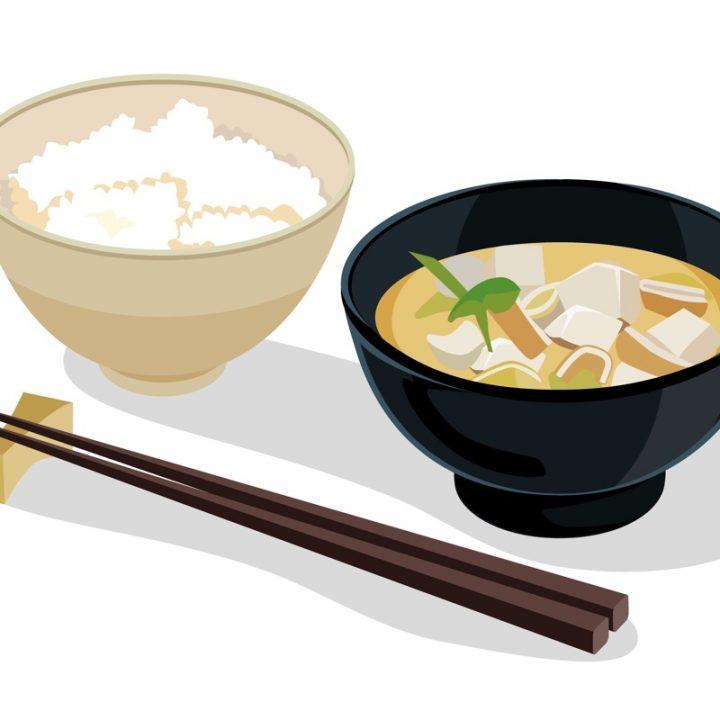 ごはんと味噌汁のイラスト