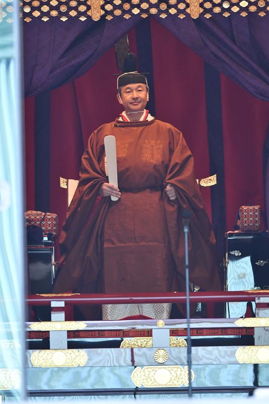即位礼正殿の儀での天皇陛下