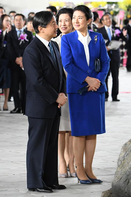 「世界らん展2020」にご出席された天皇陛下と雅子さま
