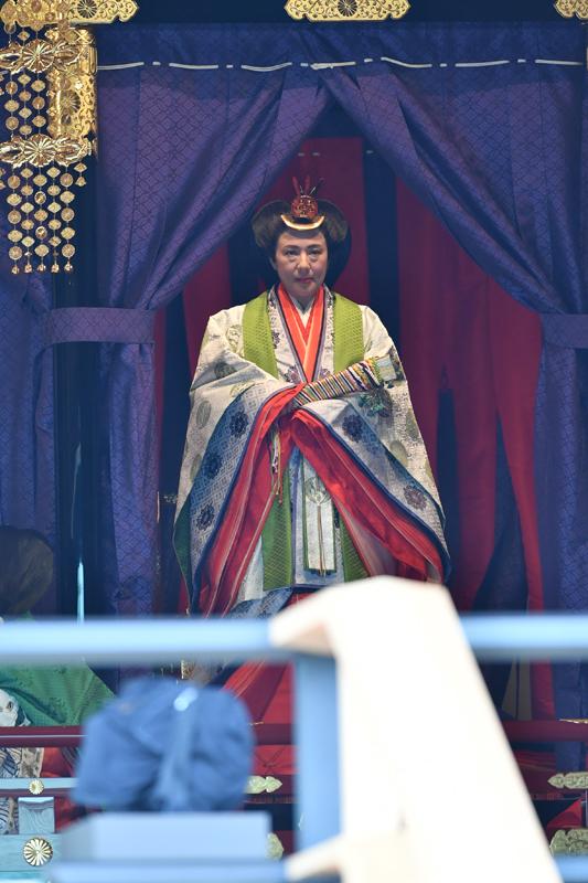 即位礼正殿の儀での皇后陛下