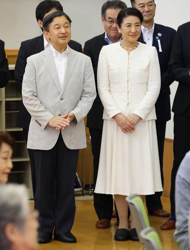 東京で「田道ふれあい館」をご訪問の際の雅子さま