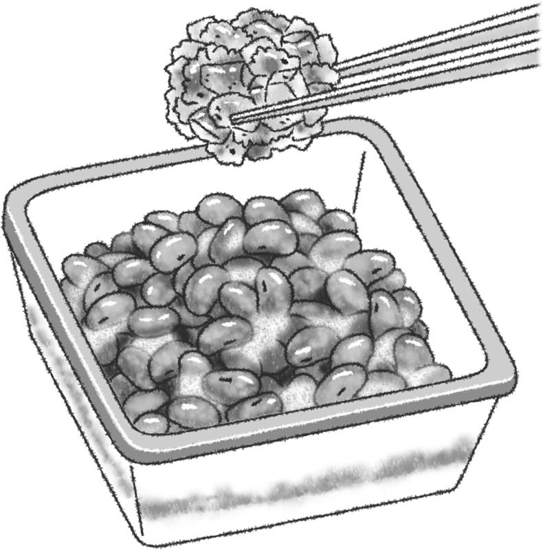 きざみキムチの納豆和えのイラスト