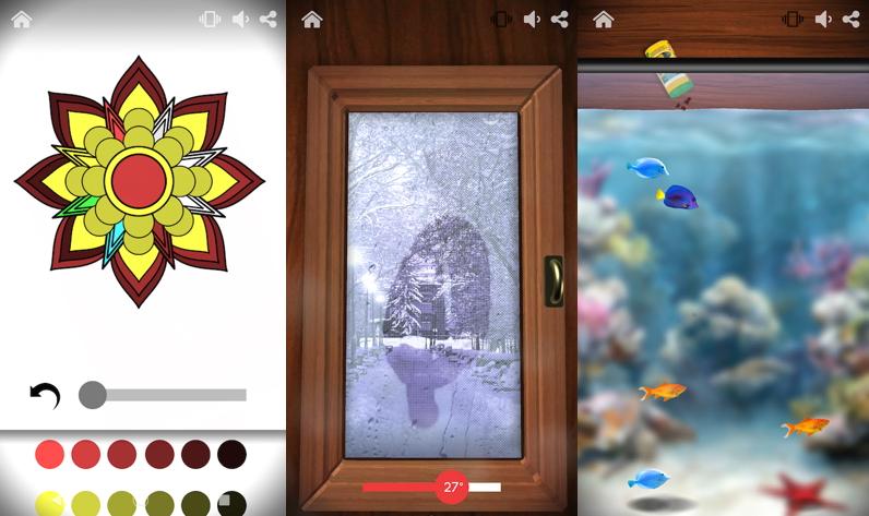 癒やしアプリ「Antistress」の使用例画面