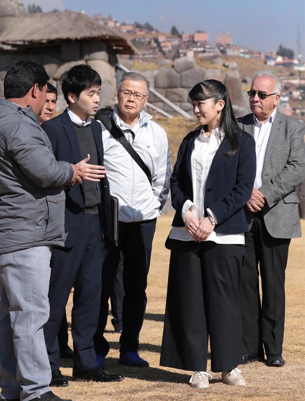 ペルーにあるインカ帝国のサクサイワマン遺跡をご訪問された眞子さま