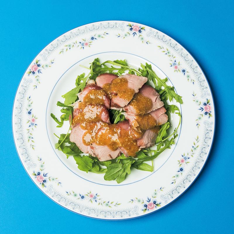 ●豚ヒレ肉のグリル ごま味噌ソース